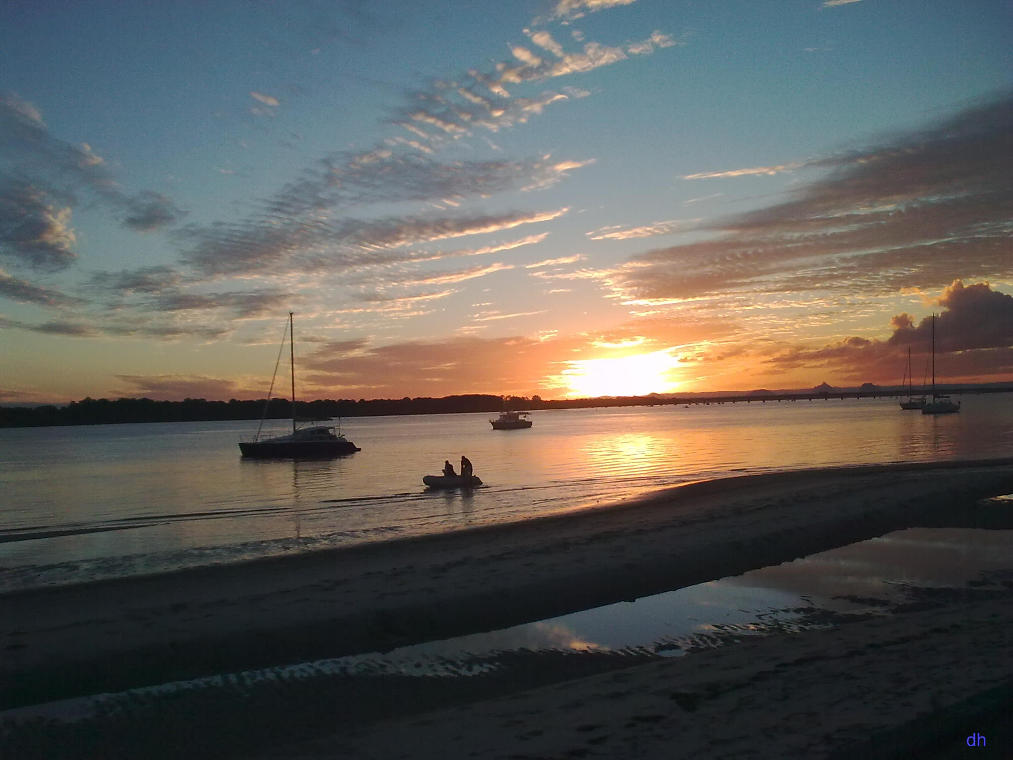 Sunset at Bribie Island, South East Queensland, Australia
